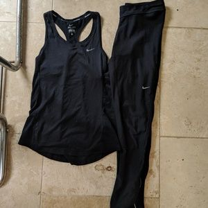 Nike tank top and leggings set DRI-FIT